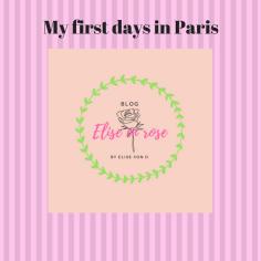 My first days in Paris