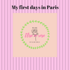 My first days in Paris