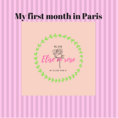 My first month in Paris